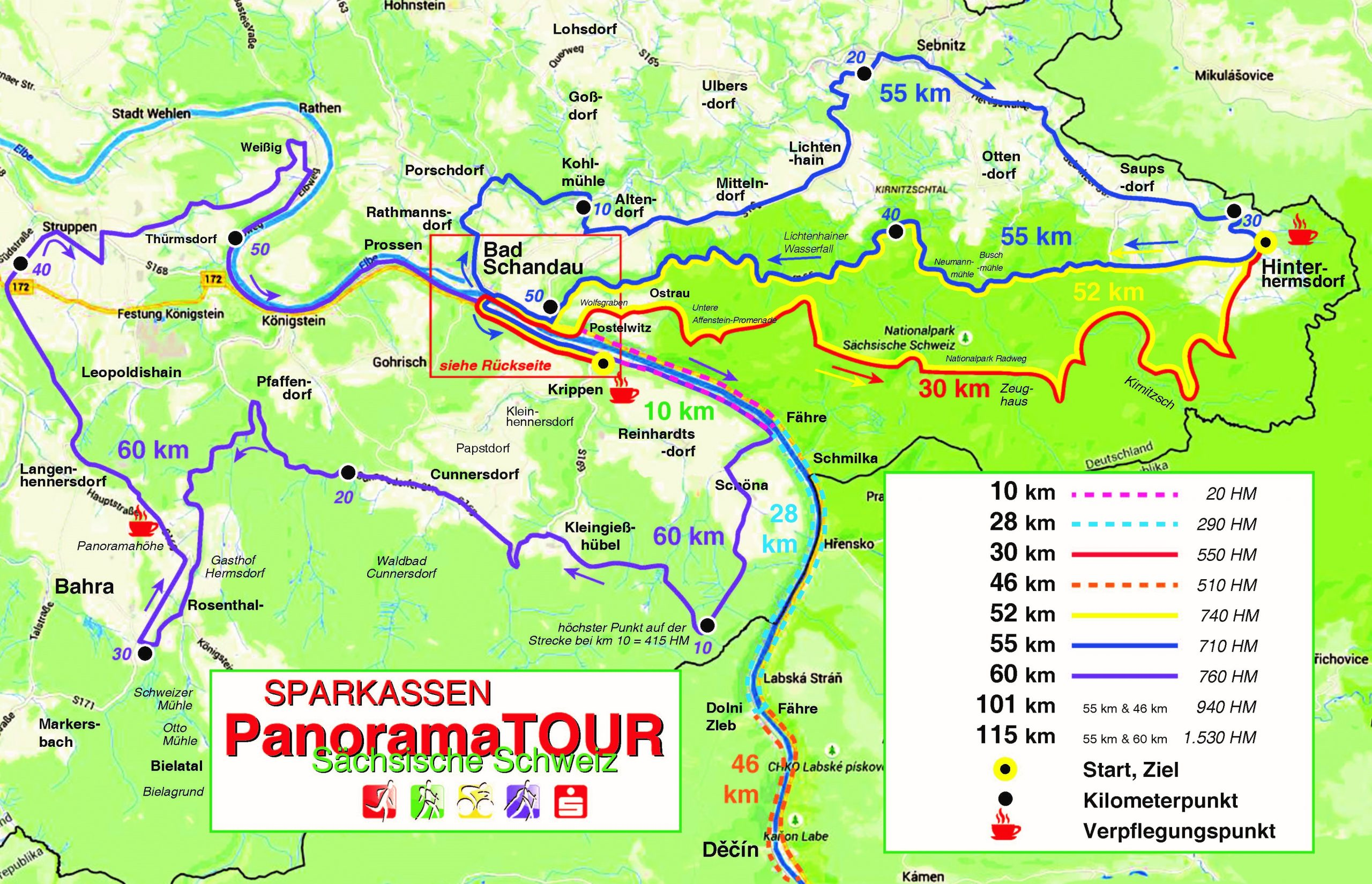 alle Radstrecken Panoramatour