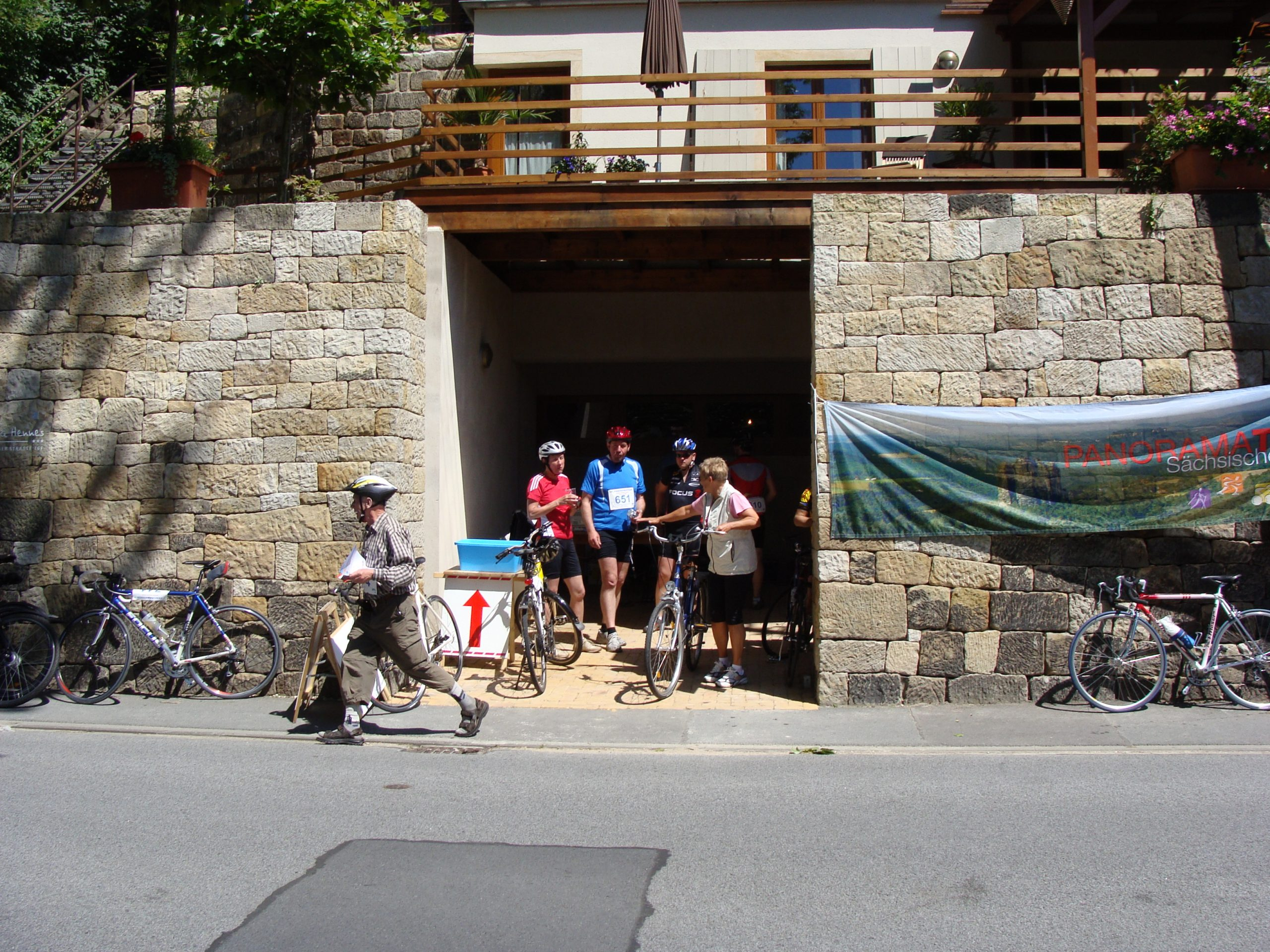 Radverpflegungspunkt Villa Hennes in Pirna