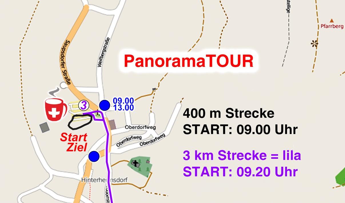 Streckenkarte 400 m Kinderlauf